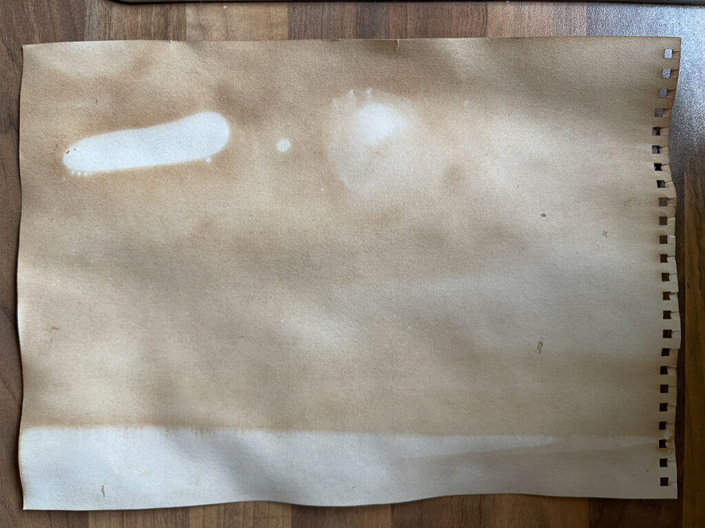 Wysuszony papier